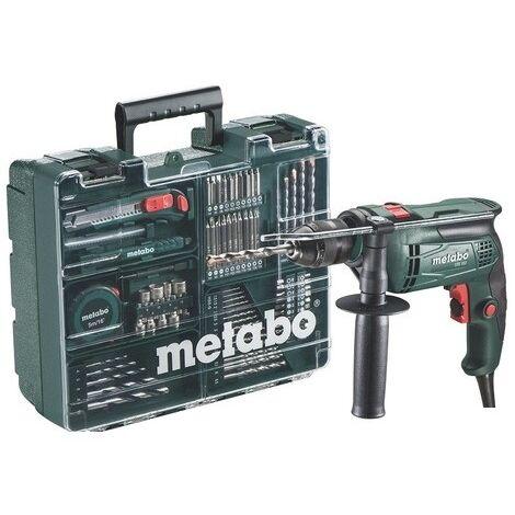 """main image of """"Perceuse à percussion 650W avec 72 accessoires en coffret - Metabo SBE650 SET"""""""