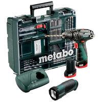 Metabo perceuse powermaxx sb basic 10.8v 2ah +64 acc. + lampe - 600385940