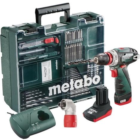 Metabo perceuse visseuse 10.8v 2/4ah +64 acc. powermaxx bs quick pro set - 600157880