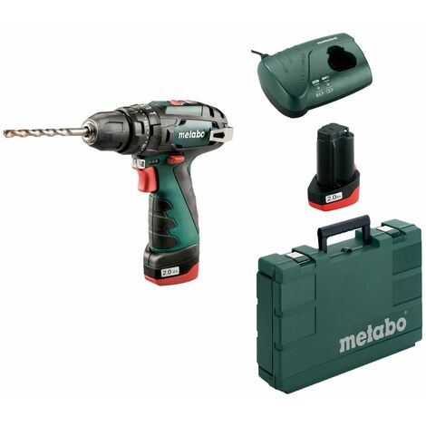 Metabo Perceuse-visseuse ? percussion sans fil 10,8 V PowerMaxx SB BASIC | 2x batteries de 2,0 Ah