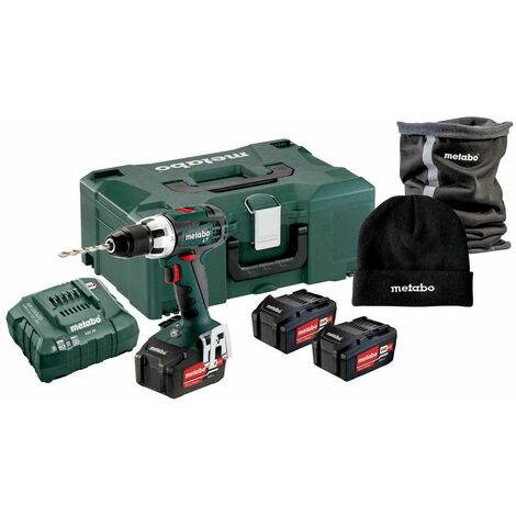 Metabo Perceuse-visseuse sans fil BS 18 LT Set, avec Winterset, MetaLoc, 18V 3x4Ah Li-Ion + ASC 55 - 691142000