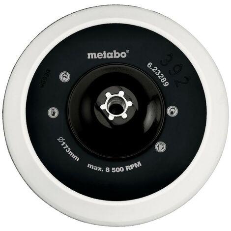 Metabo Plateau auto-agrippant 173 mm M 14, pour la fixation d'accessoires de ponçage et de lustrage - 623289000