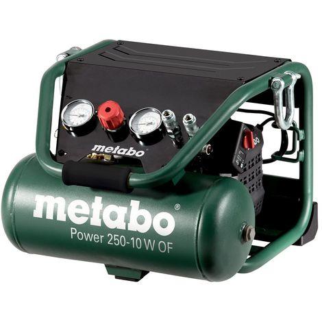 Metabo Power 250 ? 10 W OF ? 10 CV Compresseur 2 litres sans huile, la construction sp?ciale 601544000