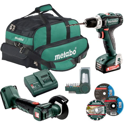 Metabo PowerMaxx BS 12 + SC 30 2,0Ah incl. PowerMaxx CC 12 BL + Sac - 601036000-Set