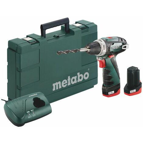 Metabo Powermaxx BS Basic 10.8V Li-Ion batería Taladradora Atornilladora (set con 2x baterías 2.0Ah) en maletín