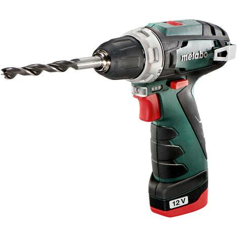 Metabo Powermaxx BS Basic Perceuse visseuse à batteries 10.8V Li-Ion set (2x batterie 2.0Ah), Chargeur rapide dans coffret 600080500