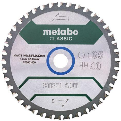 628272000 Metabo Kreissägeblatt HW//CT 165x20,18WZ classic