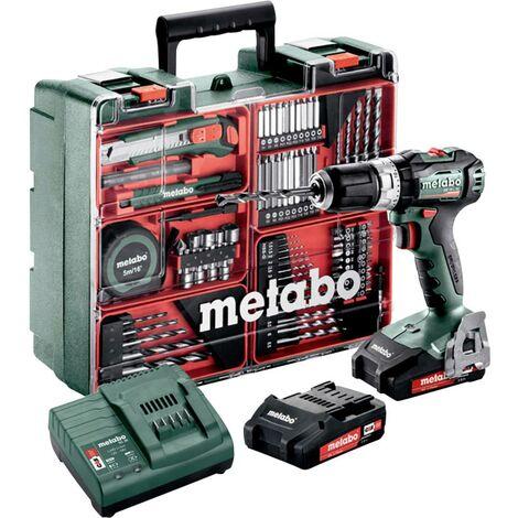 Metabo SB 18 L BL SET 602331880 Perceuse-visseuse à percussion sans fil 18 V 2.0 Ah Li-Ion + 2 batteries, + chargeur, +