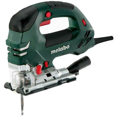 Metabo Scie sauteuse pendulaire électronique 750 watts STEB 140 Plus + lame de scie + coffret MetaLoc + accessoires
