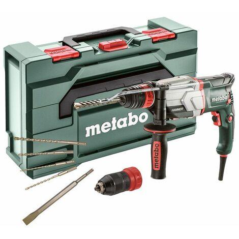 Metabo SDS-plus marteau multifonctions UHE 2660-2 Quick Set avec jeu de burins et étui