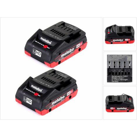 Metabo Set 18V - 2x Batteries LiHD 4,0Ah( 625367000 )