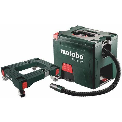 Metabo Set aspirateur sans fil AS 18 L PC, avec planche à roulettes, carton (sans batterie et chargeur) - 691060000
