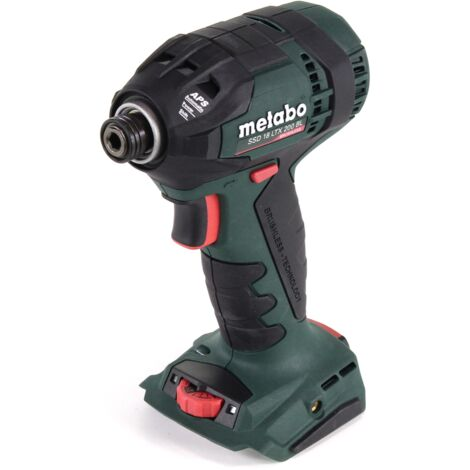 "Metabo SSD 18 LTX 200 BL Visseuse à chocs sans fil 18V ( 602396890 ) 200Nm 1/4"" Brushless - sans batterie - sans chargeur - sans coffret de transport"