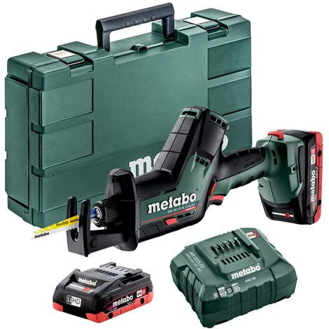 Metabo SSE 18 LTX BL 18V Compact Reciprocating Saw 2 x 4Ah LiHD In Carry Case