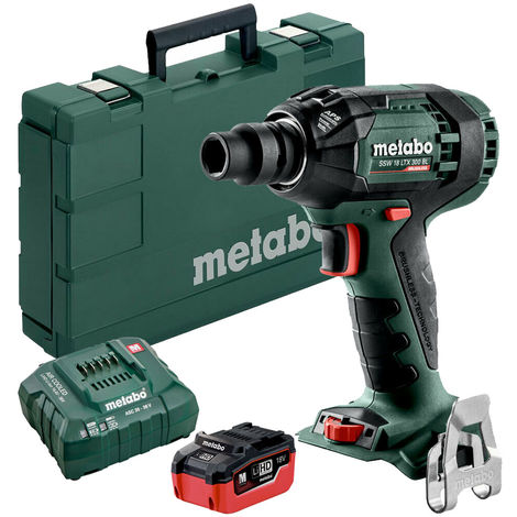 """main image of """"Metabo SSW18LTX300BL 18V Brushless Impact Wrench with 1 x 5.5Ah Battery & Charger in Case:18V"""""""