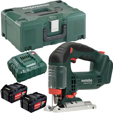 Metabo STAB 18 LTX 100 18V Li-ion Cordless Jigsaw with 2 x 4.0Ah Batteries & Charger in Metaloc Case