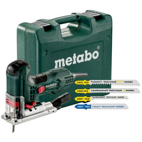 Metabo STE 100 QUICK SET - Scie sauteuse avec 20 lames dans coffret - 710W - Poignée en T - Variable