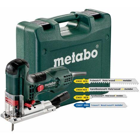 Metabo STE 100 QUICK SET Sierra de calar incluye 20 hojas de sierra en maletín - 710W - Mango en T - Variable