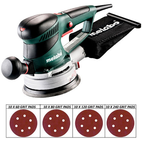 Metabo SXE450 110V TurboTec 150mm Disc Sander With 40 Sanding Discs
