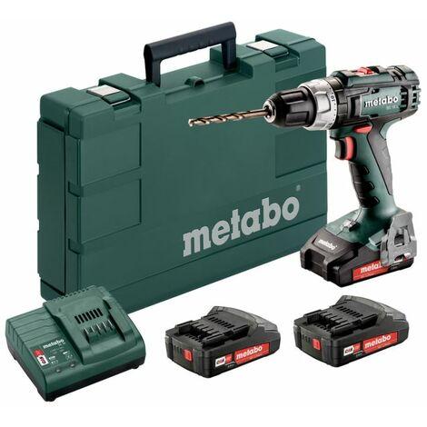 Metabo Taladro atornillador a batería de 18V BS 18 L Set con 3x baterías de 2,0 Ah