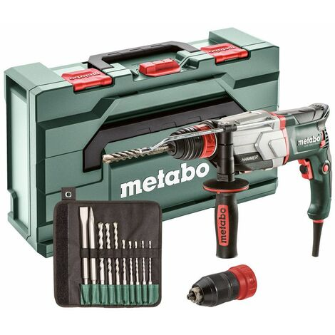 Metabo UHE 2660-2 QUICK SET MARTEAU MULTIFONCTIONS 2,8 J 800 W (600697510) avec FORETS SDS-PLUS/BURINS (10 PCS)