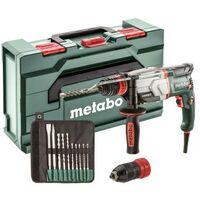 Metabo UHE 2660-2 QUICK SET MARTEAU MULTIFONCTIONS 2,8 J 800 W (600697510) avec FORETS SDS-PLUS/BURINS (10 PCS)