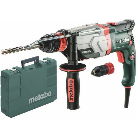 Metabo UHEV 2860-2 Martillo combinado Quick SDS-plus incluye portabrocas rápido en estuche - 1100W - 3,4J