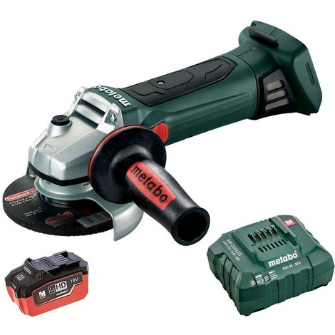 Metabo W 18 LTX 115 18v 115m Angle Grinder With 5.5Ah Battery & Charger