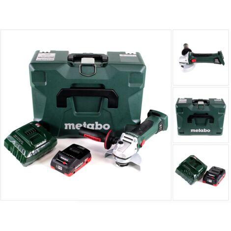 Metabo W 18 LTX 125 Quick Meuleuse d'angle sans fil 18V 125mm ( 602174840 ) + Coffret MetaLoc + 1x Batterie 4,0 Ah + Chargeur