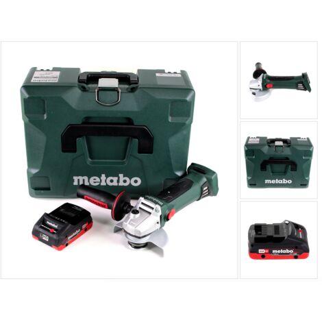 Metabo W 18 LTX 125 Quick Meuleuse d'angle sans fil 18V 125mm ( 602174840 ) + Coffret MetaLoc + 1x Batterie 4,0 Ah - sans chargeur