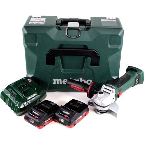 Metabo W 18 LTX 125 Quick Meuleuse d'angle sans fil 18V 125mm ( 602174840 ) + Coffret MetaLoc + 2x Batteries 4,0 Ah + Chargeur