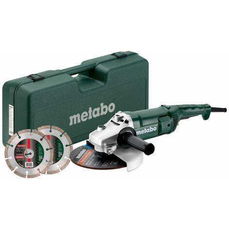 Metabo WE 2200-230 Juego de amoladora angular incluyendo 2 discos en maletín - 2200W - 230mm