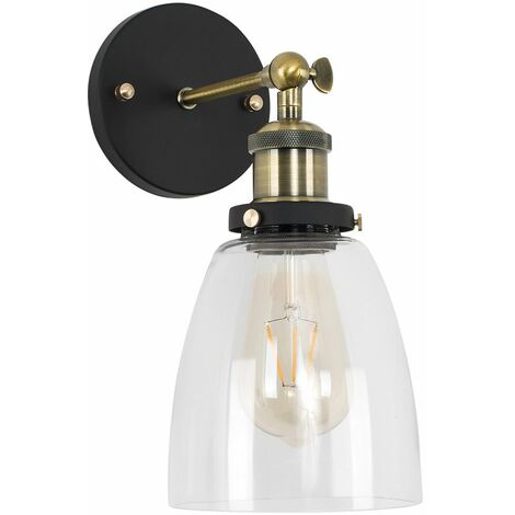 Metal Adjustable Knuckle Joint Wall Light + 4W LED Squirrel Cage Light Bulb