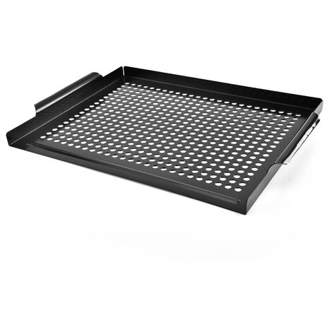Metal barbecue tray with nonstick handles - Perfect for cooking your foods without mess