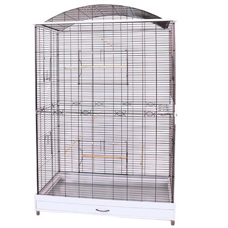 Metal Bird Cage Canary Parakeet Cockatiel Budgie Parrot L 118 x B 75 x H 175 cm
