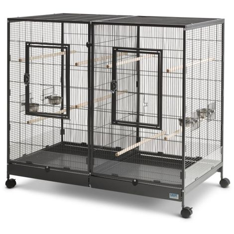 Metal Bird Cage Canary Parakeet Cockatiel Budgie Parrot L 120 x B 65 x H 107 cm