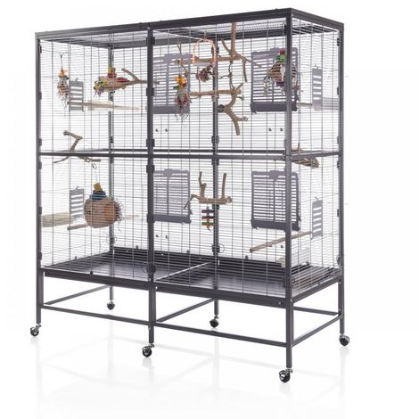 Metal Bird Cage Canary Parakeet Cockatiel Budgie Parrot L 150 x B 65 x H 161 cm