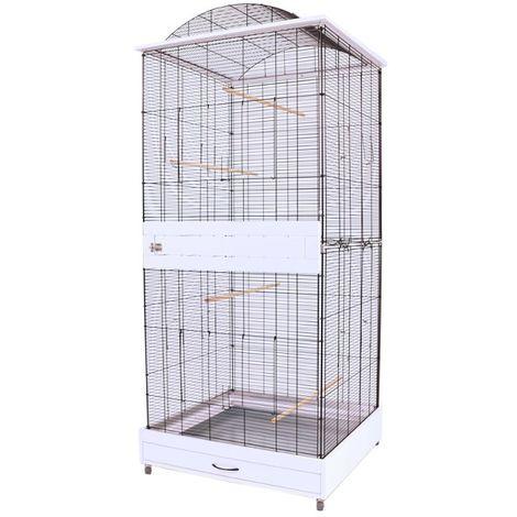 Metal Bird Cage Canary Parakeet Cockatiel Budgie Parrot L 78 x B 75 x H 175 cm