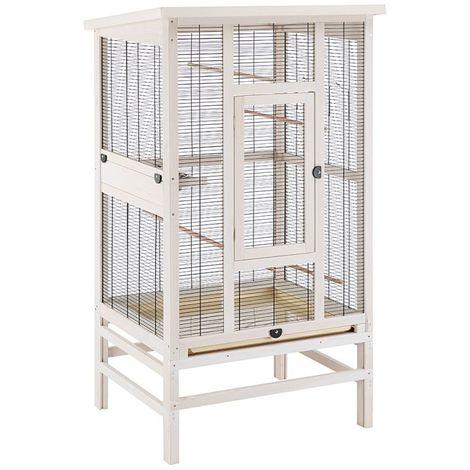 Metal Bird Cage Canary Parakeet Cockatiel Budgie Parrot L 83 x B 67 x H 153 cm