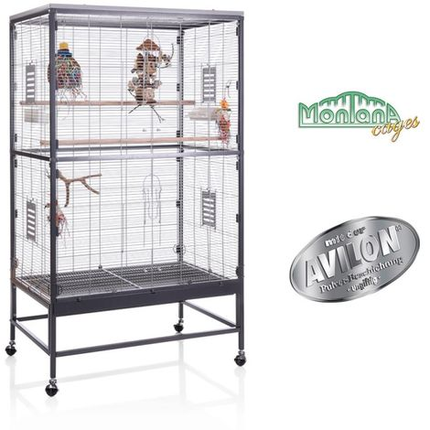 Metal Bird Cage Canary Parakeet Cockatiel Budgie Parrot L 91 x B 60 x H 160 cm