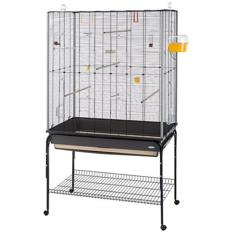 Metal Bird Cage Canary Parakeet Cockatiel Budgie Parrot L 97,8 x B 58 x H 173,5 cm