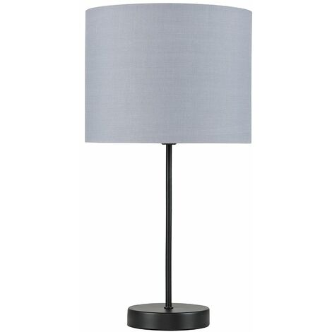 Metal Black Table Lamp Light Shades - Grey - Black