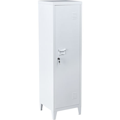 Metal cabinet for office filing cabinet or storage cabinet (127 cm), white color