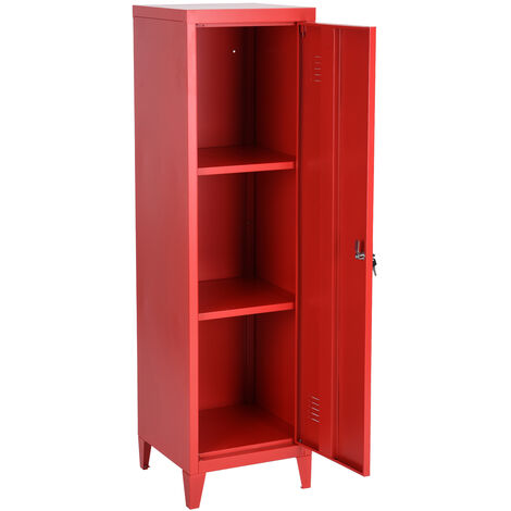 Metal cabinet for office filing cabinet or storage cabinet, red color