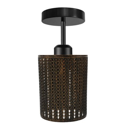 """main image of """"Metal Ceiling Light Shade Pendant Industrial Barrel Wire Cage Lampshade Lamp"""""""
