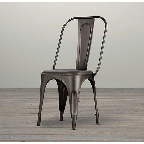 "main image of ""Metal Chair Grey Upcycled Industrial Vintage Mintis Pair - Light Wood"""