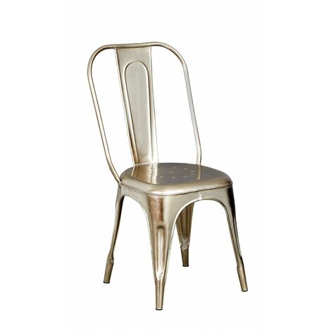 """main image of """"Metal Chair Silver Upcycled Industrial Vintage Mintis Pair - Light Wood"""""""