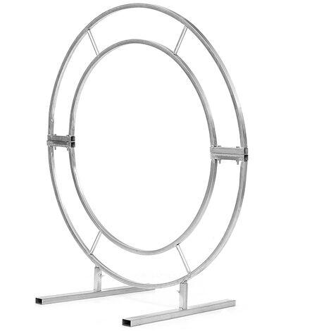 Metal Circle Wedding Arch Frame Backdrop Free Standing 2M