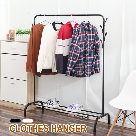 Metal Clothes Hanger Portable Clothes Rack Coat Rack Scarf Hat Wardrobe
