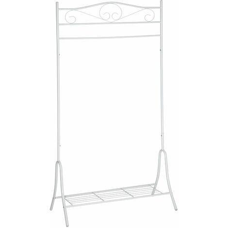 """main image of """"Metal clothes rack antique with shoe stand - coat stand, clothes rack, coat hanger stand"""""""